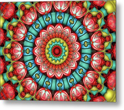 Metal Print featuring the digital art Festival 2 by Wendy J St Christopher