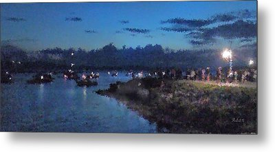 Metal Print featuring the photograph Festival Night Land And Shore by Felipe Adan Lerma