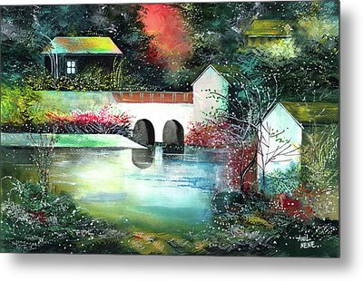 Metal Print featuring the painting Festival Of Lights by Anil Nene