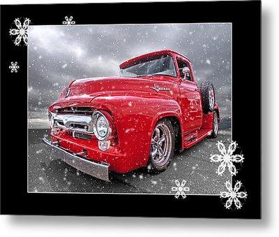 Festive Red F100 Metal Print by Gill Billington