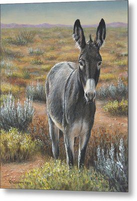 Metal Print featuring the painting Festus by Kim Lockman