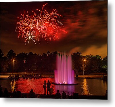 Fair St Louis 4th Of July Fireworks Metal Print by Garry McMichael