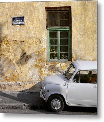 Fiat 600. Belgrade. Serbia Metal Print