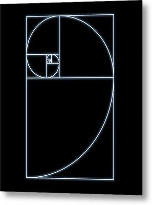 Fibonacci Spiral, Artwork Metal Print by Seymour
