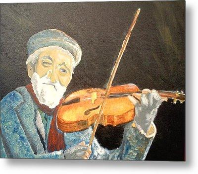 Fiddler Blue Metal Print by J Bauer