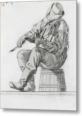 Fiddler Metal Print by George Caleb Bingham