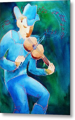 Metal Print featuring the painting Fiddler by Marilyn Jacobson