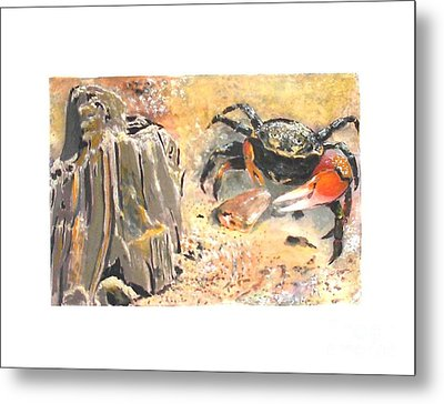 Metal Print featuring the painting Fiddling Around by Sibby S
