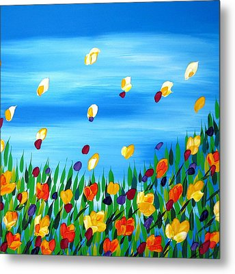 Field Metal Print by Cathy Jacobs