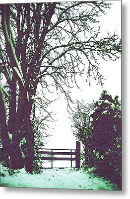 Field Gate Metal Print