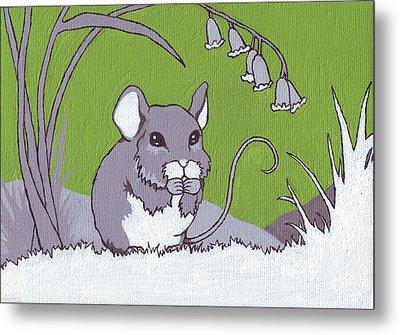 Field Mouse Metal Print by Sarah Webb