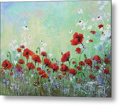 Field Of Imagination Two Metal Print by Laura Lee Zanghetti