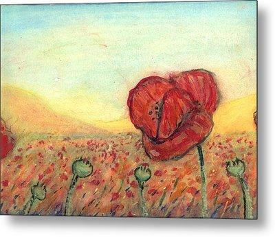 Field Poppies Metal Print by Robert Wolverton Jr