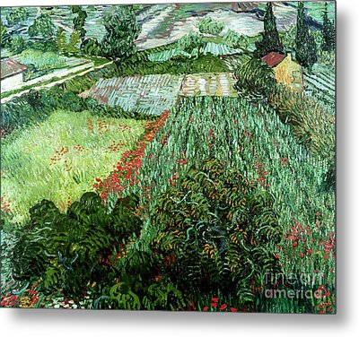 Field With Poppies Metal Print by Vincent Van Gogh