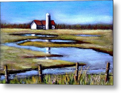 Fields In Spring Metal Print by Joyce Geleynse