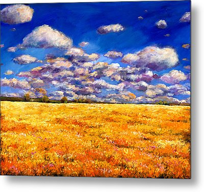 Fields Of Gold Metal Print by Johnathan Harris