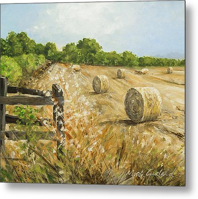 Fields Of Hay Metal Print by Marty Garland