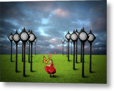 Fields Of Time Metal Print by Nathan Wright