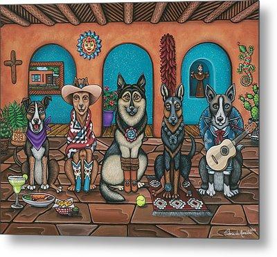 Fiesta Dogs Metal Print by Victoria De Almeida