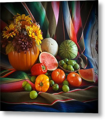Metal Print featuring the painting Fiesta Fall Harvest by Marilyn Smith