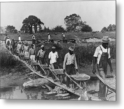 Fifteen African American Laborers Metal Print by Everett