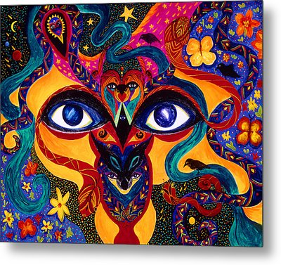 Metal Print featuring the painting All Seeing by Marina Petro