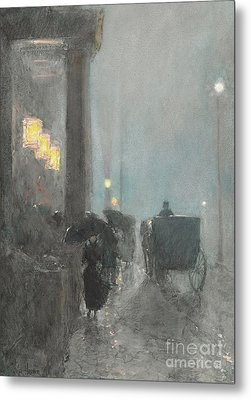 Fifth Avenue, Evening Metal Print
