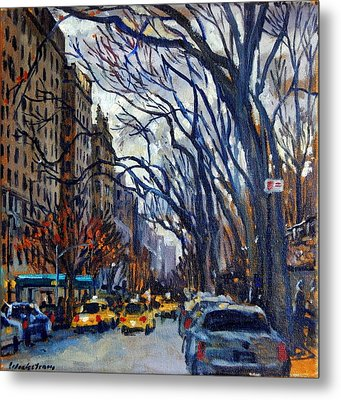 Fifth Avenue In November Metal Print by Thor Wickstrom