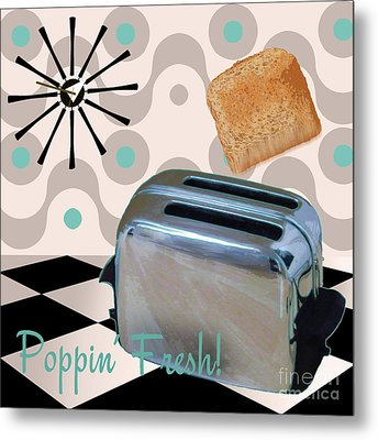 Fifties Kitchen Toaster Metal Print by Mindy Sommers