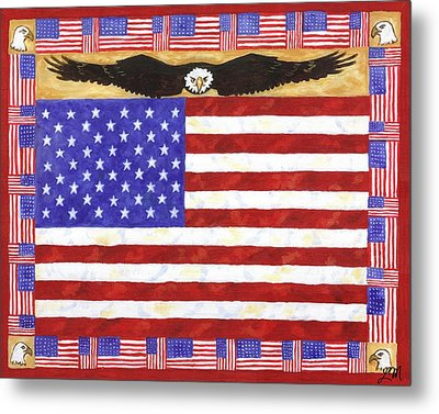 Fifty Stars Metal Print by Linda Mears