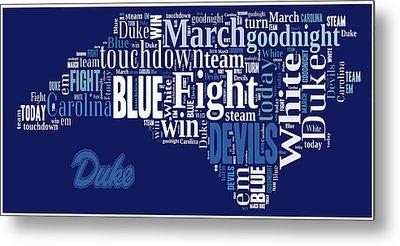 Fight Fight Blue Devils Metal Print
