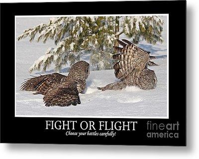 Fight Or Flight Metal Print
