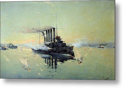 Fighting On July In The Yellow Sea Metal Print by Konstantin Veshchilov