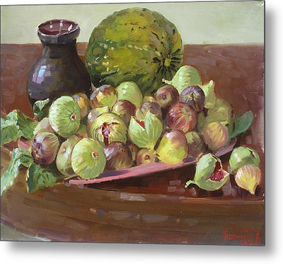 Figs And Cantaloupe Metal Print by Ylli Haruni