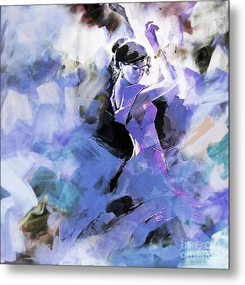 Metal Print featuring the painting Figurative Dance Art 509w by Gull G