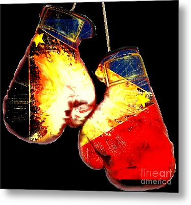Filipino Boxer Metal Print by Teo Alfonso