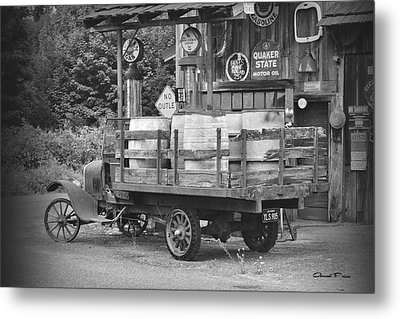 Fill Er Up          B And W Metal Print