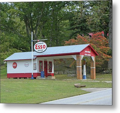 Metal Print featuring the photograph Fill 'er Up by Larry Bishop