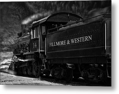 Fillmore-western Steam Train Metal Print by William Havle