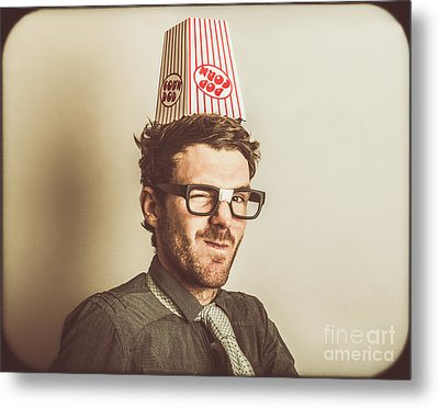 Film Critic Nerd Metal Print by Jorgo Photography - Wall Art Gallery