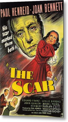 Film Noir Poster  The Scar Metal Print