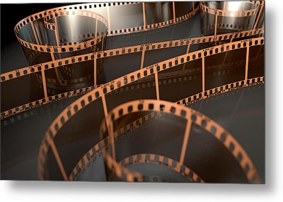 Film Strip Curled Metal Print
