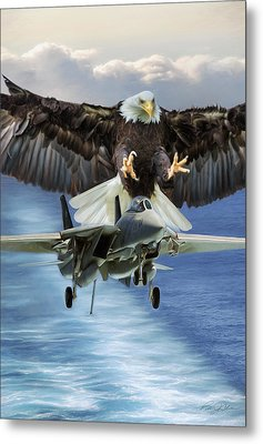 Final Approach Of Freedom Metal Print