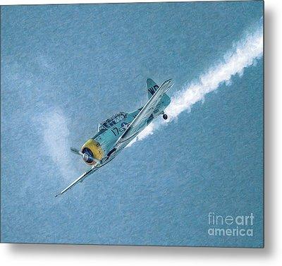 Final Dive World War Two Airplane  Metal Print by Randy Steele