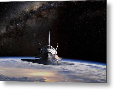 Final Frontier Metal Print by Peter Chilelli