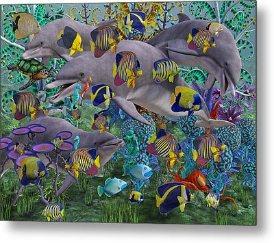 Find The Sea Dragon Metal Print
