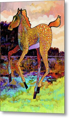 Finding His Legs Metal Print by Bob Coonts