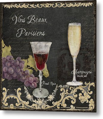 Fine French Wines - Vins Beaux Parisiens Metal Print