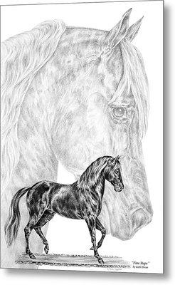 Fine Steps - Paso Fino Horse Print Metal Print by Kelli Swan