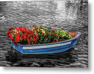 Metal Print featuring the photograph Fine Wine Cafe Boat Parade by Aimee L Maher Photography and Art Visit ALMGallerydotcom